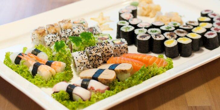 Sushi na mnoho způsobů: sety s 24, 30 nebo 56 kousky s možností rozvozu