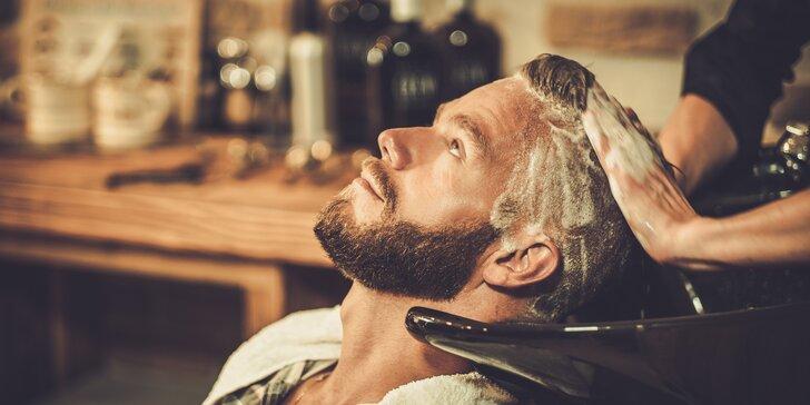 Pánský střih s masáží hlavy a vhodným sérem pro vaše vlasy