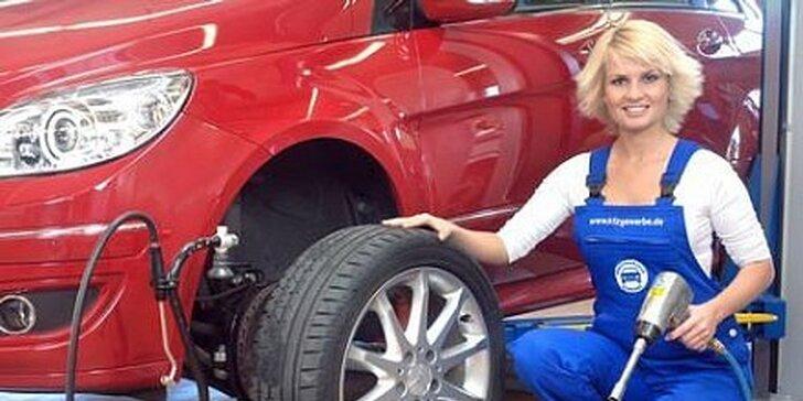 """399 Kč za kompletní přezutí osobního automobilu 12""""- 16"""""""