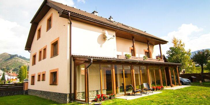 Pobyt na pomezí 3 slovenských národních parků: vlastní kuchyňka a wellness