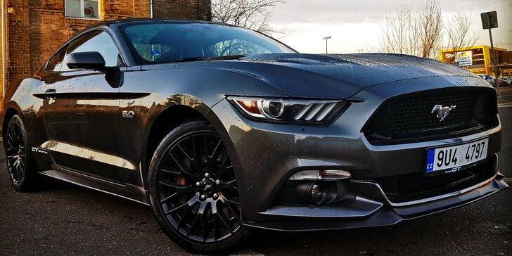 Jízda v nadupaném Fordu Mustang GT 5.0: 30–60 min. jako spolujezdec i řidič