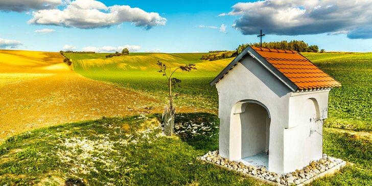 Romantika na vinicích jižní Moravy: pobyt v novém penzionu se snídaní pro 2