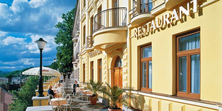 Relaxujte v Karlových Varech: 4* hotel s polopenzí a vstupem do Thermaria