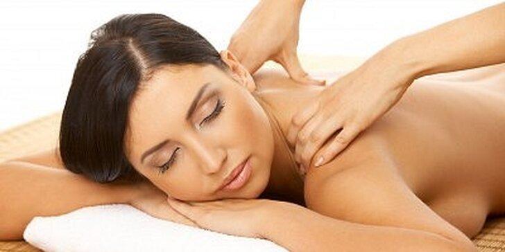 275 Kč za dvouhodinovou masáž celého těla pro ženy v hodnotě 550 Kč