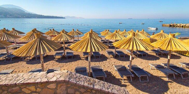7 nocí v letovisku Sutomore pro pár i rodinu: polopenze, pláž 100 m od hotelu