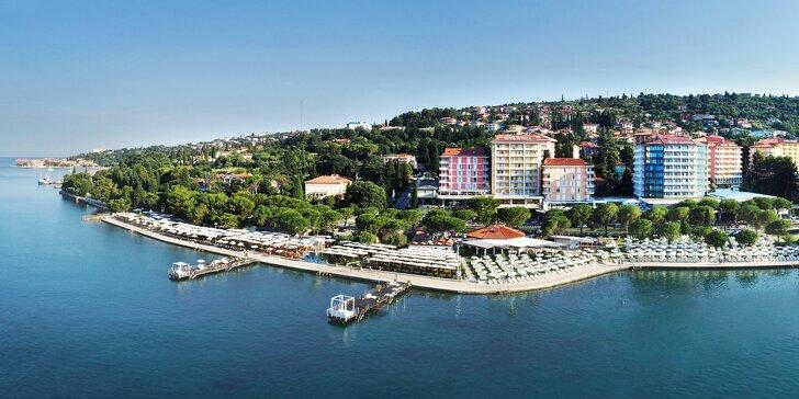 V páru nebo s rodinou do Slovinska: 4* hotel blízko moře, polopenze i bazén