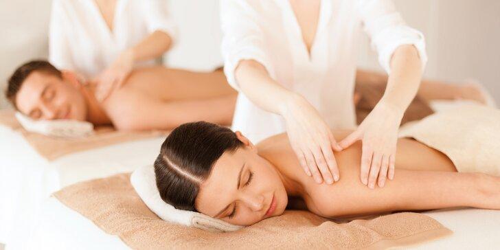 Pro páry: 45minutová relaxační partnerská masáž dle výběru