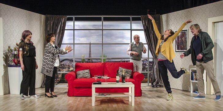 Vstupenka do Reduty na situační komediální hru Dokud nás milenky nerozdělí