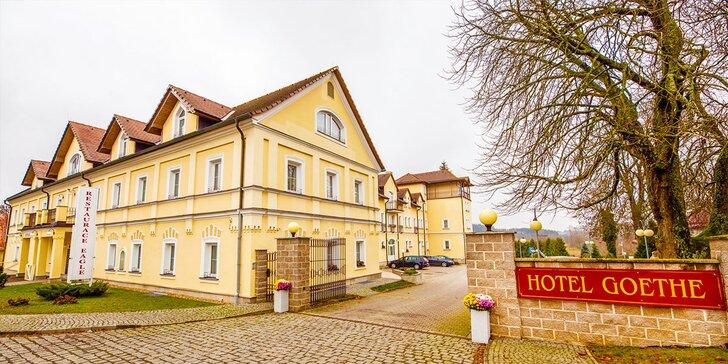 Relax v Mariánských Lázních: hotel Goethe s neomezeným bazénem a saunou