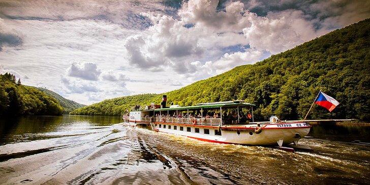 Celodenní lodní výlet na Slapy včetně 3chodového oběda a občerstvení
