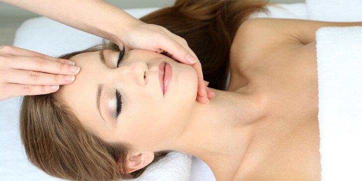 Kompletní kosmetické ošetření pleti včetně masáže obličeje, krku a dekoltu