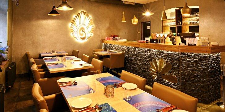 Otevřený voucher na konzumaci jídla v indické restauraci: 500 a 1000 Kč