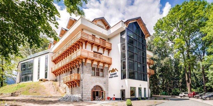 Krásy polských Krkonoš: hotel v bývalém hradu, jídlo a neomezený wellness