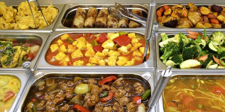 300g porce jídla podle výběru: polévky, saláty, vege i bufet