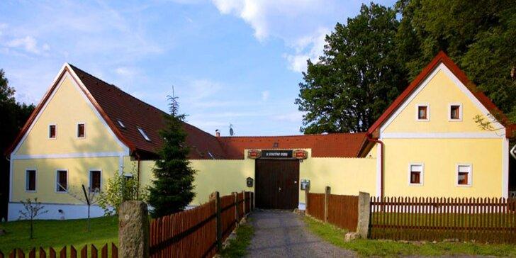 Pobyt v jižních Čechách: polopenze a relax na jaře, na podzim i během léta