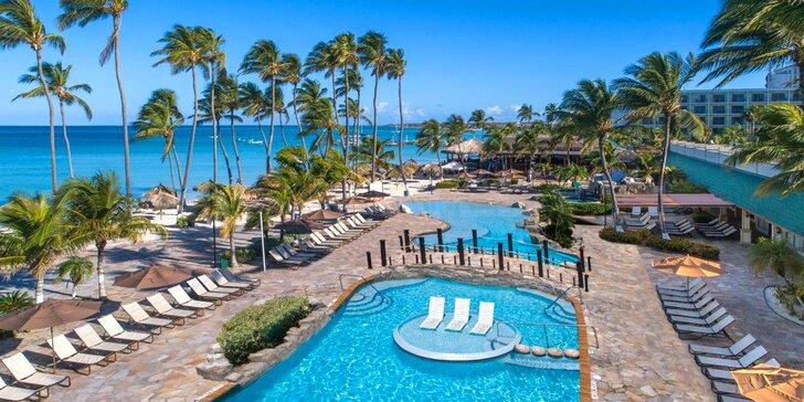 Exotický 4* resort na Arubě: 6–13 nocí, all inclusive, 2 bazény, vířivka, lázně