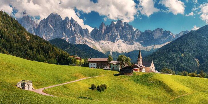 Zájezd za krásou Dolomit: doprava, apartmány na 4 noci a úchvatná příroda