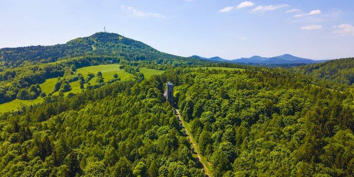 Pobyt v srdci Lužických hor na Jedlové hoře: polopenze, sauna i rozhledna