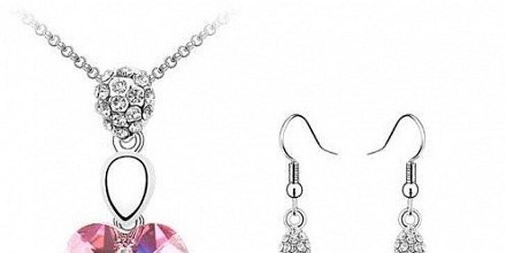499 Kč za soupravu šperků s krystaly Swarovski v hodnotě 1135 Kč