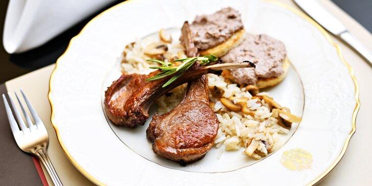 Degustační menu v restauraci Franz Josef: šunka, jehněčí kotletky i candát