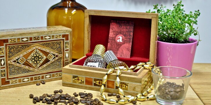 Vůně od Alchymisty: příprava vlastního parfému či workshop a sada parfémů