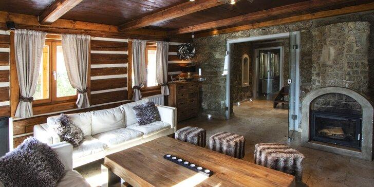 Chata v Jizerkách: pro 2 až 6 osob s vlastním wellness a saunou