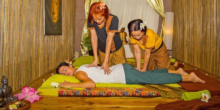 30–60 min. thajských masáží: různé druhy pro 1 osobu i párová masáž