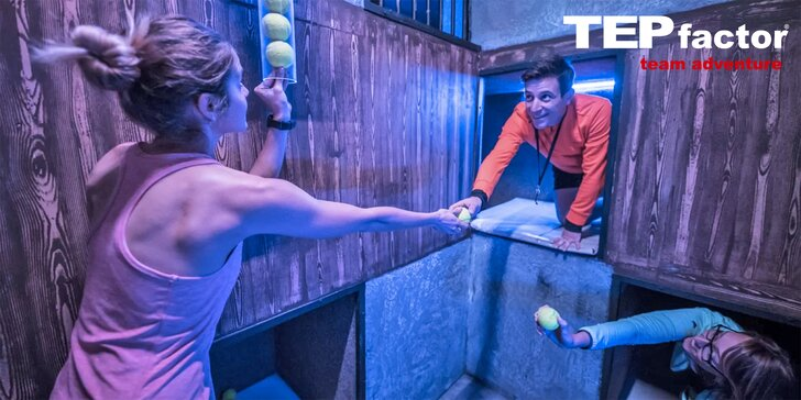 Akční týmová hra TEPfactor: 3 hodiny plné pohybu a logických hádanek