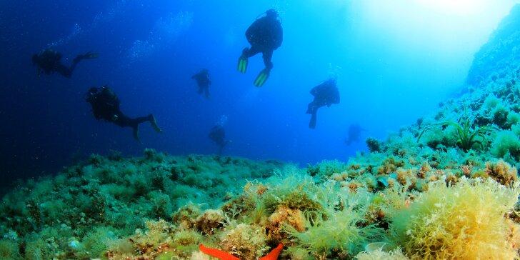 Aktivní dovolená v Chorvatsku: týden potápění s ubytováním i kurzem