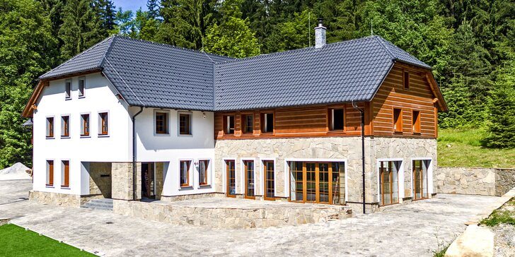 Moderní apartmány pár minut od Lipna: snídaně a skvělé zázemí v klidu lesa