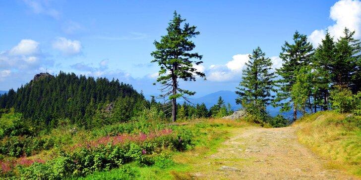 Aktivní pobyt na Šumavě: polopenze, sport, výlety a možnost masáže