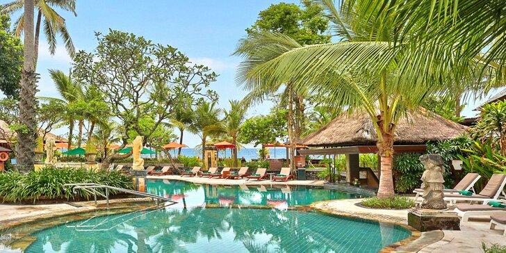 Překrásný 4* hotel na Bali: 6–12 nocí, snídaně, 2 bazény, wellness a fitness