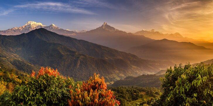 15denní poznávací zájezd do Nepálu: letenky, vstupy, výlety a český průvodce