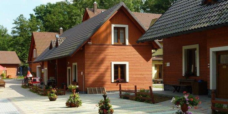 Letní prázdniny v chatě pro 11 osob v Jeseníkách u Pradědu