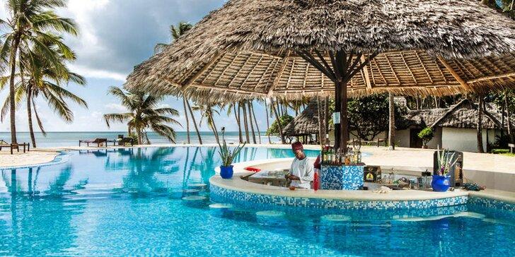 4*+ resort v africkém stylu na Zanzibaru: 6–12 nocí s all inclusive, 3 bazény