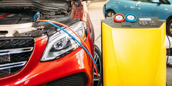 Plnění a čištění klimatizace auta s chladivem R134A nebo 1234YF