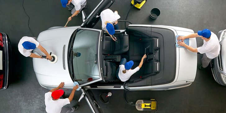 Poukaz na čištění auta v centru Prostějova od 600 do 2500 Kč