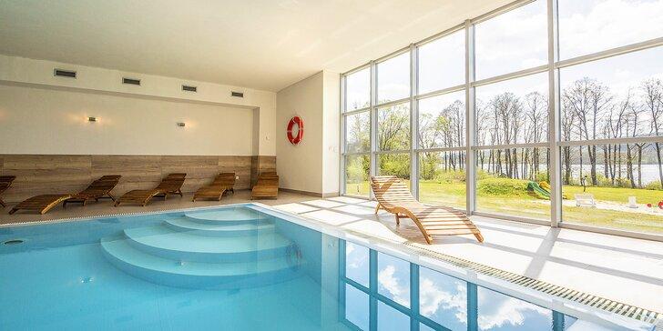 Pobyt v hotelu přímo u Lipna: polopenze a wellness s bazénem a saunou