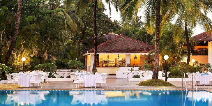 Odpočinek v Indii: 6–12 nocí ve 4* resortu s all inclusive, 200 m od pláže