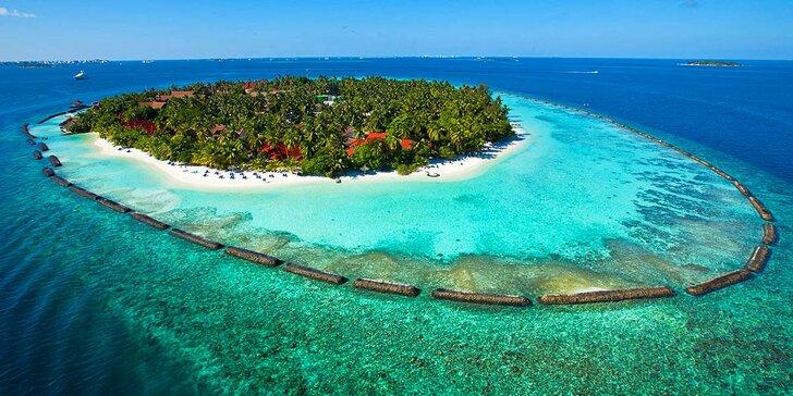 Luxusní dovolená v 5* hotelu na Maledivách: 6–12 nocí, plná penze, 2 bazény