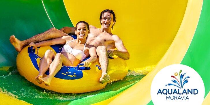 Letní osvěžení v Aqualandu Moravia na celý den: bazény i venkovní tobogany