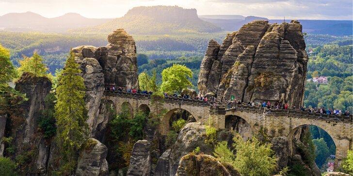Za krásami Českosaského Švýcarska: vyhlídka Bastei i plavba soutěskami