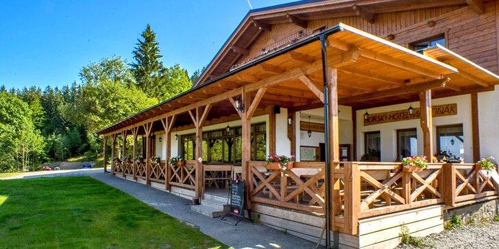 Pobyt v Beskydech: horský hotel s polopenzí a vstupem do saun