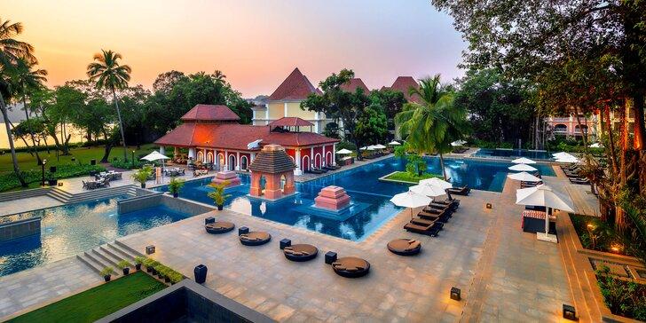 Pohoda a luxus v 5* resortu v Indii: 6–12 nocí s polopenzí, bazénem a miniklubem pro děti