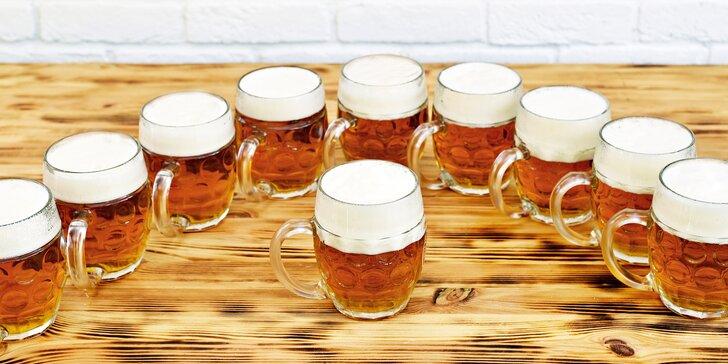 Vyrazte na metr piv: 10× pivo Březňák 11° s krásným výhledem do zeleně
