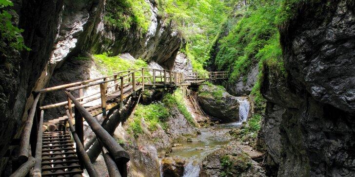 Jednodenní poznávací výlet do kaňonu Medvědí soutěska v Rakousku