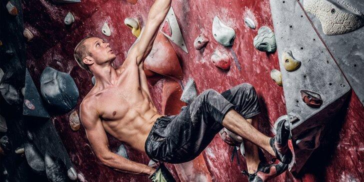 Lezení na horolezecké stěně i kurz pro začátečníky či pokročilé