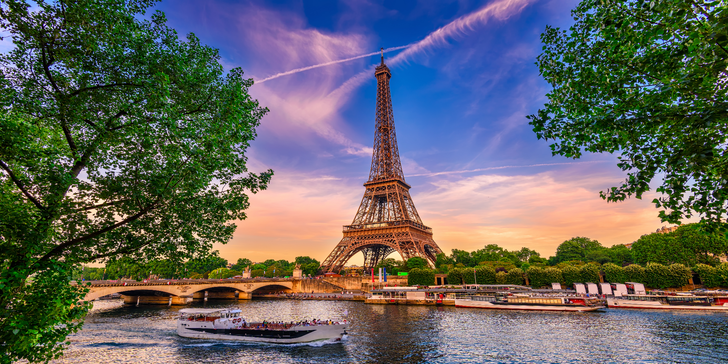 4denní zájezd do Paříže a Versailles s 1 nocí v hotelu a průvodcem