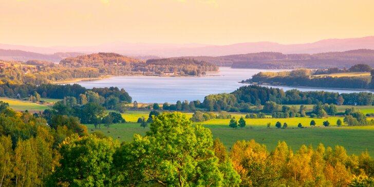 Bezva podzim u Lipna: pobyt s polopenzí i saunováním v penzionu s farmou
