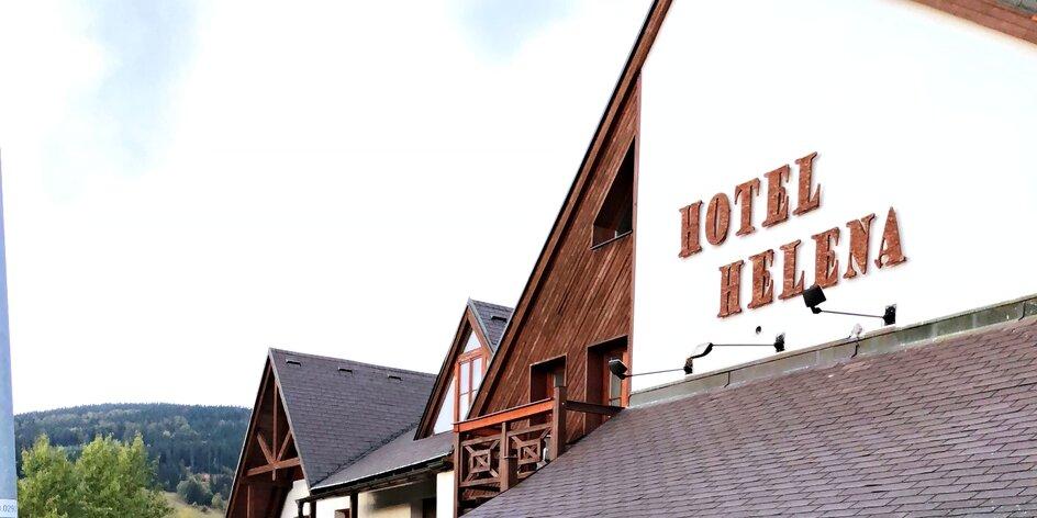 Hotel Helena v Rokytnici. Sjezdovka na dohled, zázemí pro děti a relax v sauně
